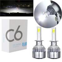 2Pcs Car LED Headlight COB 36W C6 H1 H3 H4 H7 H11 Bulb Fog Light Lamp ZP HO