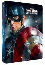 Captain America - Civil War (3D + 2D Blu-ray Steelbook) LENTICULAR GEPRÄGT OVP