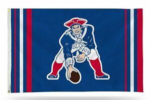 New England Patriots Flag Banner 3x5 AFL Retro Design Premium Outdoor Football