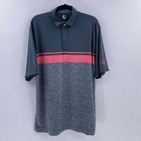 Footjoy course logo mens golf polo shirt wild rock golf club sz XL