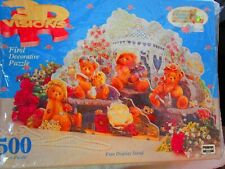 Cherished Teddies 3D Visions puzzle First Decorative Puzzle by Rose Art  NEW
