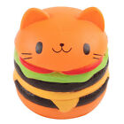 Kawaii Cat Slow Rising Hamburger Bread Squishies Toy for Collection Gift Straps