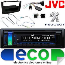 Peugeot 308 JVC DAB CD MP3 Bluetooth Car Stereo Steering Wheel Black Fascia Kit