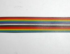 """1' Spectra Strip Flat Ribbon Cable 28 AWG, 16 Conductor Multi-color 0.59""""W"""