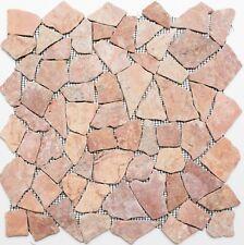 Mosaico pietra naturale marmo frammentario rosso/terracotta:44-30-140_b 1 foglio
