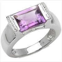 Damen Ring Ginette, 925er Silber, 3,0 Kt. Amethyst, Gr. 55