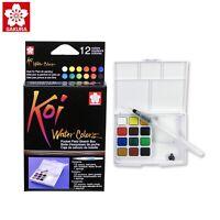 Sakura Koi Watercolour 12 Colors Field Sketch Box | Draw Travel Kit | | XNCW-12H