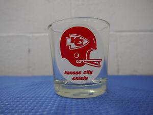 Vintage Kansas City Chiefs Whiskey Glass NFL AFC West Football