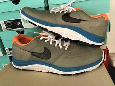 Nike Lunar P Rod SB  537693 003 12 Medium Grey Bright Citrus Orange Blue Black