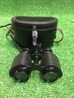 Vintage Unbranded Binoculars With Case. Rare Unique Collectible Fast Free Ship