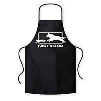 Fast Food Fastfood Hund Katze Fun BBQ Spaß Grillschürze Kochschürze Latzschürze