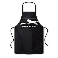 Fast Food | Hund Katze | Fun | BBQ | Grillschürze / Kochschürze / Latzschürze
