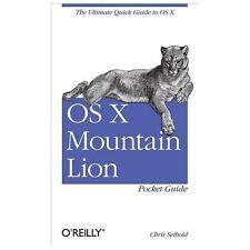 OS X Mountain Lion Pocket Guide, Seibold, Chris, New Book