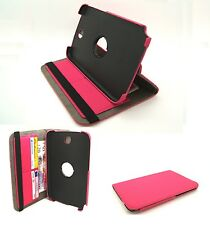 Pink Matt Textile Rotating Case Cover Stand Samsung GT-N5100 Galaxy Note 8.0""