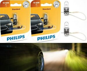 Philips Standard H3 55W Fog Light Two Bulbs Halogen Replacement Stock Plug Play