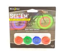 Niteize See'Em Mini Bicycle Spoke Lights, 4 Pack