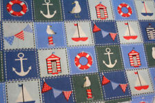 "By the Metre Beach & Nautical 100% Cotton 45"" Fabric"