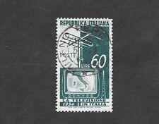 Italia 1954 la introducción de la televisión SG 864 - 60 liras Usado