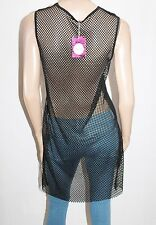 VALLEYGIRL Brand Black Mesh Lace Long Black Top Size XS BNWT #SN16