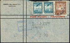 1133 CHILE TO PERU AIR MAIL COVER 1940 SANTIAGO - LIMA