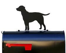 Labrador Retriever Silhouette Mailbox Topper / Sign - Powder Coated Steel  - USA