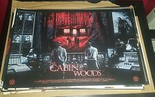 Cabin in the Woods - Limited Edt Screen Print by Nathan Chesshir nt Mondo