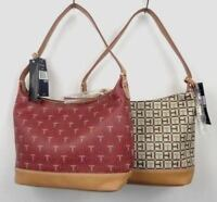 Tommy Hilfiger handbag Monogram Coated Canvas Hobo shoulder bag