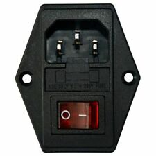 Inlet Male Power Socket With Fuse Rocker Switch, Fuse 3 Pin Iec320 250V 15A O7T8