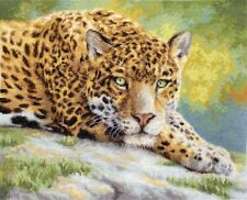 LetiStitch Counted Cross Stitch Kit - LETI 920 Peaceful Jaguar