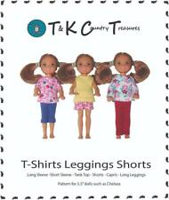 "Sewing Pattern for Chelsea 5.5"" Barbie Doll Clothes by TKCT Leggings & Tops"