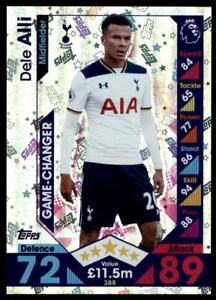 Match Attax 2016-2017 Dele Alli Tottenham Hotspur Game Changer No. 388
