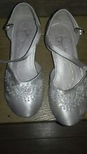 bhs wedding collection girls communion bridesmaid flower girl shoe sandals uk 11