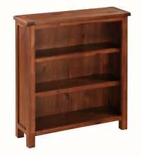 Prussia Acacia Small Bookcase / Solid Dark Wood Bookcase / Adjustable Shelves