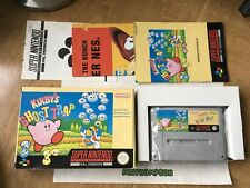 Kirbys Ghost Trap Snes Super Nintendo Game Boxed & Complete PAL