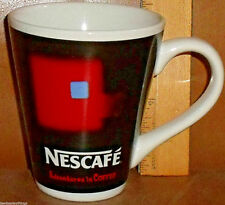 """Nescafe Mug Cup Adventures In Coffee Black Red Advertising 4.5"""""""