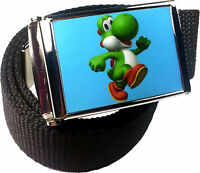 Yoshi Mario Bros. Belt Buckle Bottle Opener Adjustable Web Belt