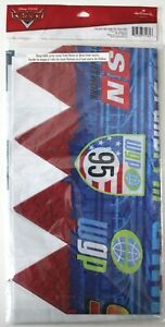 "Disney Cars Grand Prix Party Tablecloth NIP 54""x96"" Racing Hallmark Table Cover"