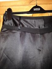 Ladies Black Satin Tailored Trousers size 10R by Next BNWOT