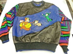 VINTAGE 1980'S S AXONY COLECTIONS YOGI THE BEAR MULTICOLOR LEATHER & ACRYLIC