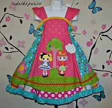 Girls Custom boutique Lalaloopsy Mad Hatter Ruffle Galore EURO FELIZ Dress SZ5/6