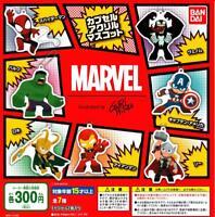 BANDAI MARVEL capsule acrylic mascot Gashapon 7 set mascot capsule toys Japan