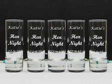 24 x Personalised Engraved 60ml Shot Glass Wedding Bride, Groom Mr & Mrs