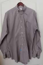 Men's Brooks Brothers Long Sleeve Button Down Brown Dress Shirt Pin Check Large