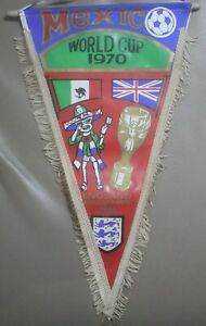 RARE Mexico World Cup 1970 England World Cup Winners 1966 Football Pennant