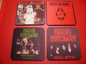 4 x Neoprene Drink Coasters 10cm x 10cm Radio Birdman YOUR DESIGN OR OURS