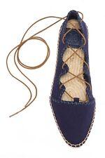 c44836ba5d3297 Tory Burch  Sonoma  Ghillie Espadrille Flats Shoes New  265 Size 6