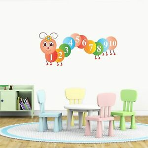 Cute Counting Caterpillar Wall Sticker Vinyl Art Home Decals Room Decor Mural