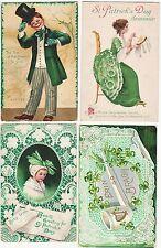 SUPER Postcard LOT of 4 - St Patrick's Day - Signed Ellen Clapsaddle 1908-1918