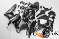 For 2007-2008 Honda CBR600RR Black Repsol ABS Plastic Injection Fairing Bodywork