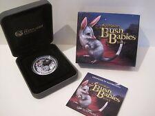2011 AUSTRALIAN BUSH BABIES: BILBY 1/2 oz 50 CENTS SILVER COLOURED PROOF COIN